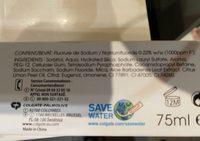 Colgate Naturals Fresh Dentifrice - Ingredients - fr