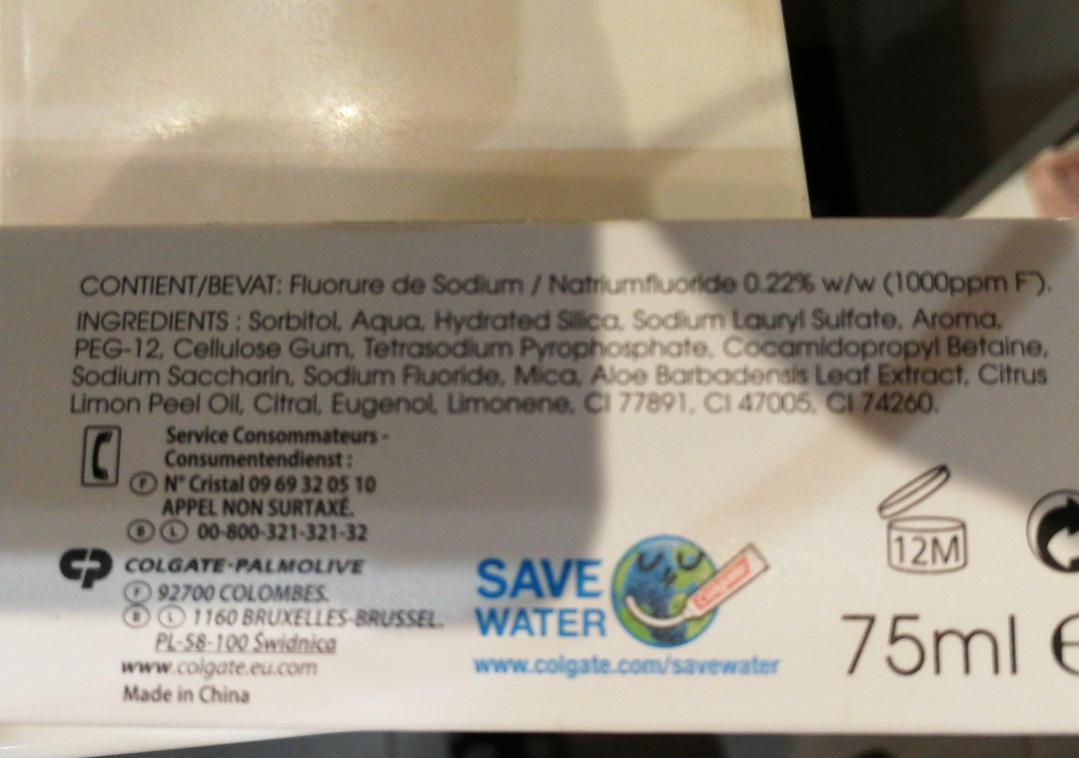 Colgate Naturals Fresh Dentifrice - Ingrédients - fr