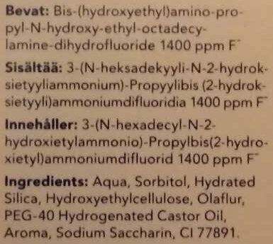 Sensitive Toothpaste with Aminfluoride - Ingredients - en