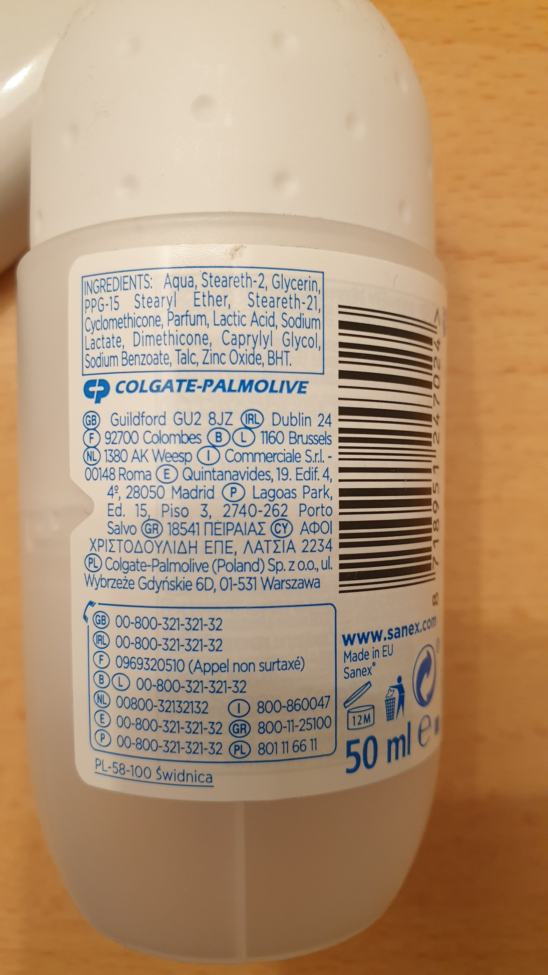 Déodorant protection 48h - Ingredients - fr