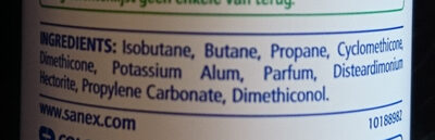 Natur protect anti-traces blanches 24h - Ingredients - fr