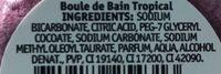 Boule de bain Tropical - Ingredients