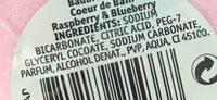 Coeur de Bain Raspberry & Blueberry - Ingredients