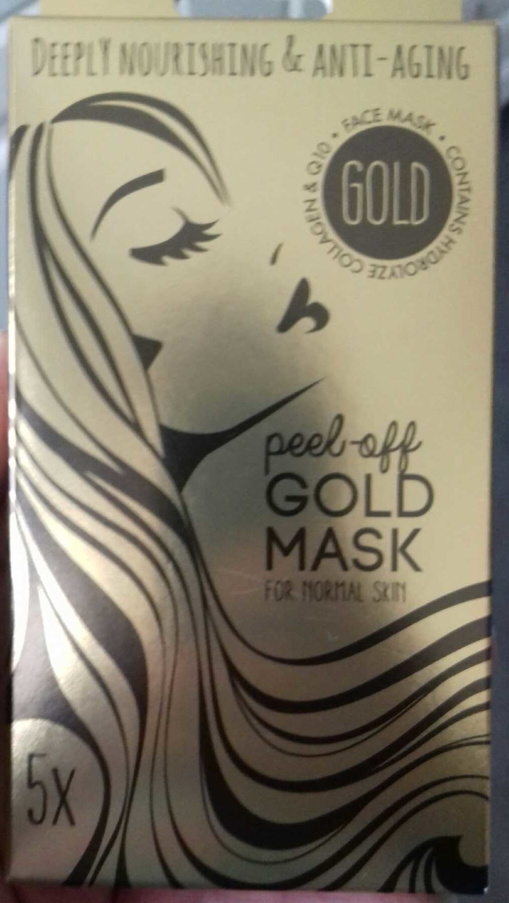 Peel-off gold mask for normal skin - Produit