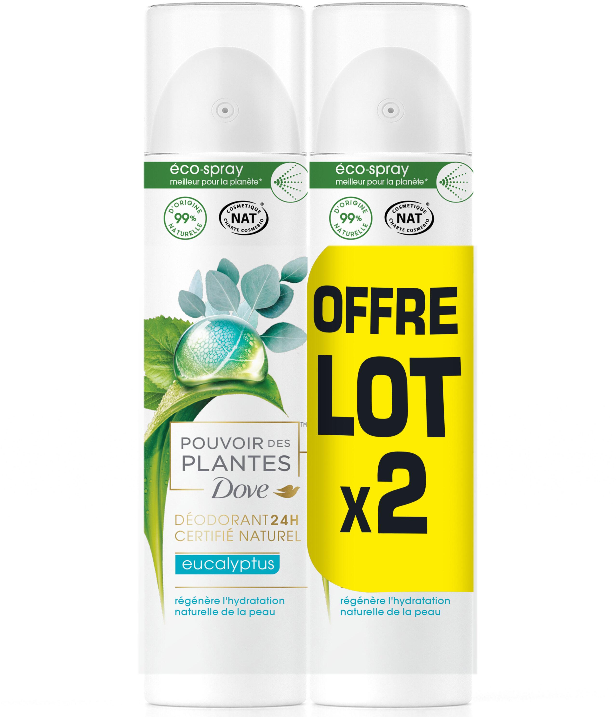 Dove Déodorant Femme Spray Pouvoir des Plantes Eucalyptus - Product - fr