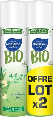 Monsavon Bio Déodorant Spray Aloe Vanille Lot 2 x 75ml - Product