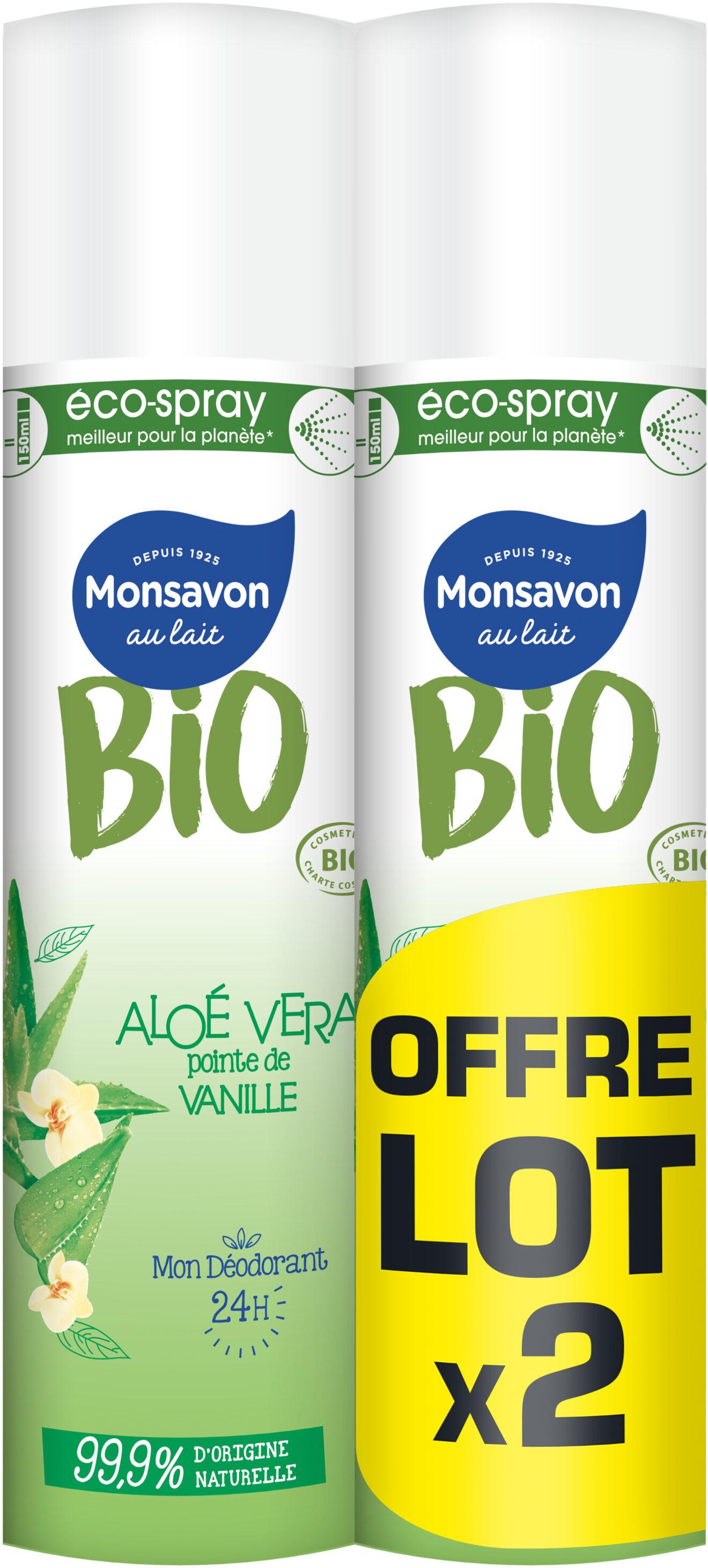 Monsavon Bio Déodorant Spray Aloe Vanille Lot 2 x 75ml - Product - fr