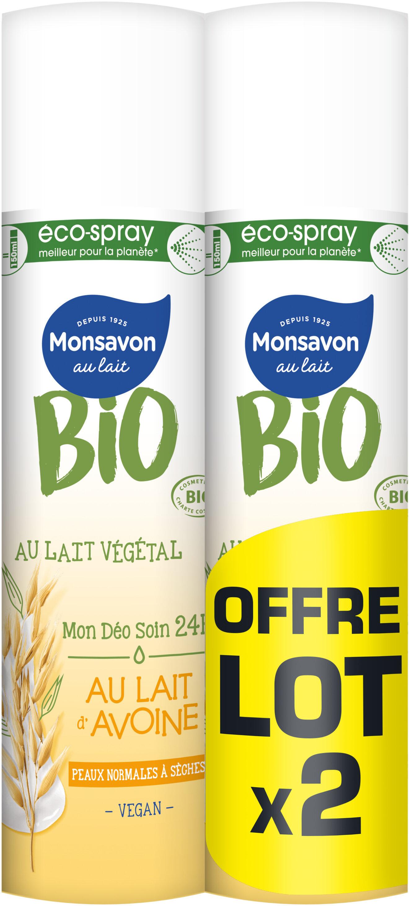 Monsavon Bio Déodorant Spray Lait d'Avoine Lot - Product - fr