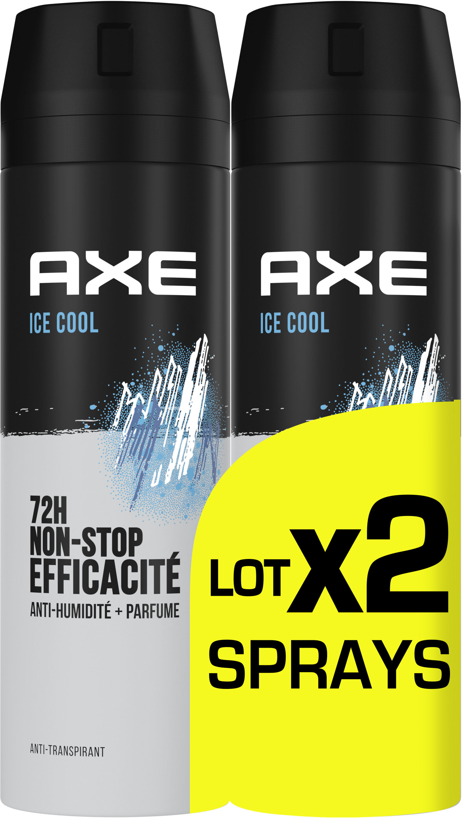 AXE Anti-Transpirant Homme Ice Cool 72h Anti-Humidité Lot 2x200ml - Product - fr