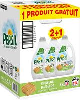 Persil Lessive Liquide Douceur d'Amande aux extraits de Vanille Bio Lot(2+1 Offert)x1.9L - 114 Lavages - Produit - fr