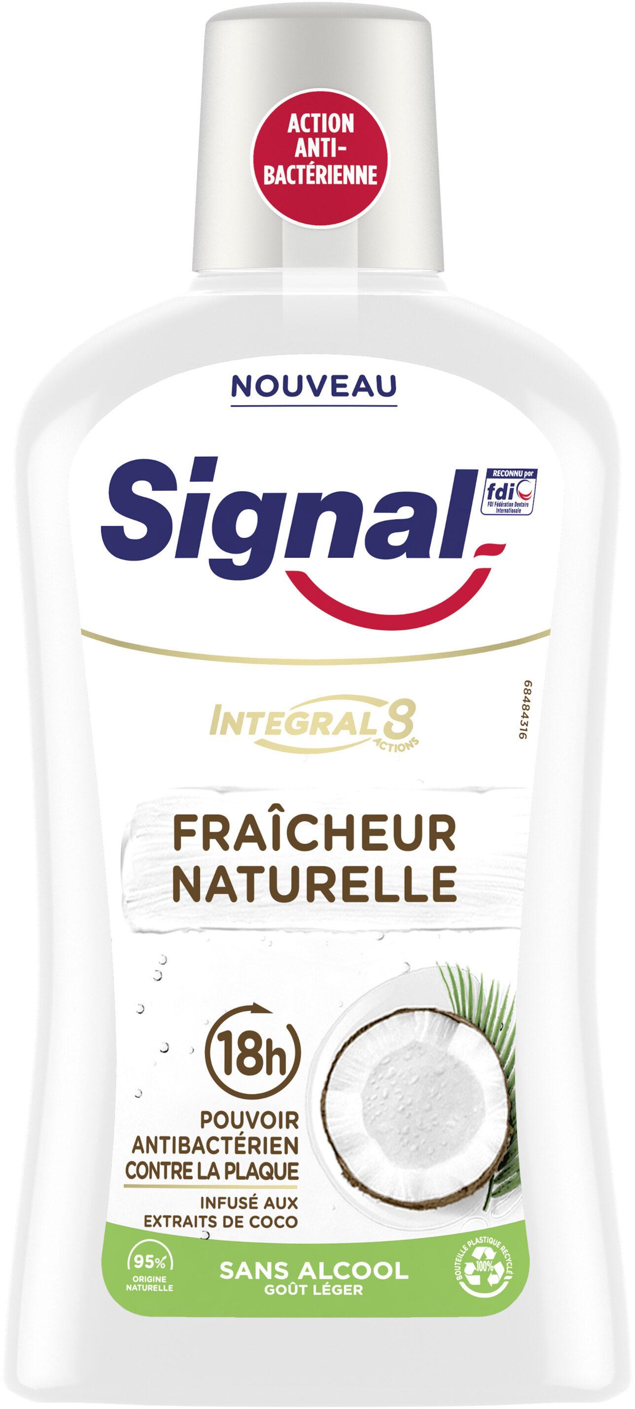 Signal Bain de Bouche Antibactérien Integral 8 Nature Elements Fraîcheur Naturelle - Produit - fr