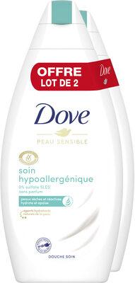 Dove Gel Douche Soin Hypoallergénique 400ml Lot de 2 - Product - fr