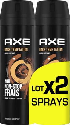 AXE Déodorant Bodyspray Homme Dark Temptation 48h Non-Stop Frais Lot 2x200ml - Produit - fr