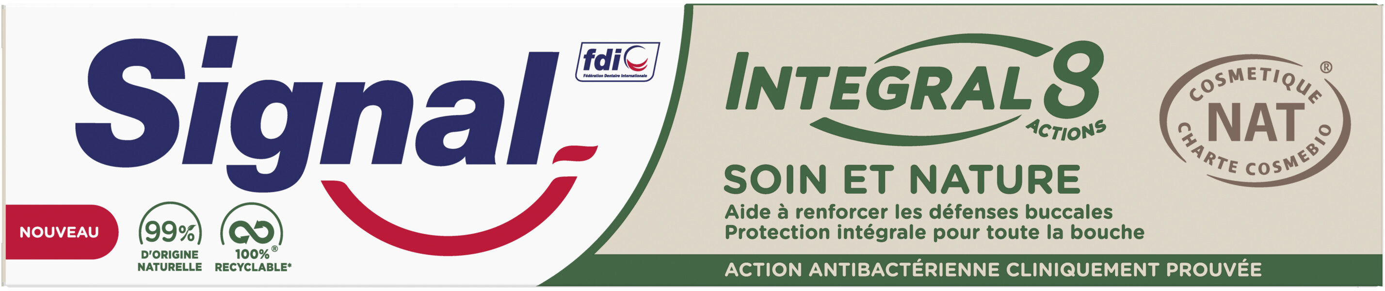 Signal Dentifrice Integral 8 Soin & Nature - Produit - fr