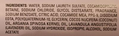 Argan Oil & Lavender Shampoo - Ingredients - en