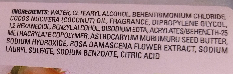 Murumuru Butter & Rose Shampoo - Ingredients - en