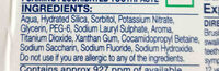 Sensodyne toothpaste - Ingredients