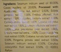 Huile - Ingredients