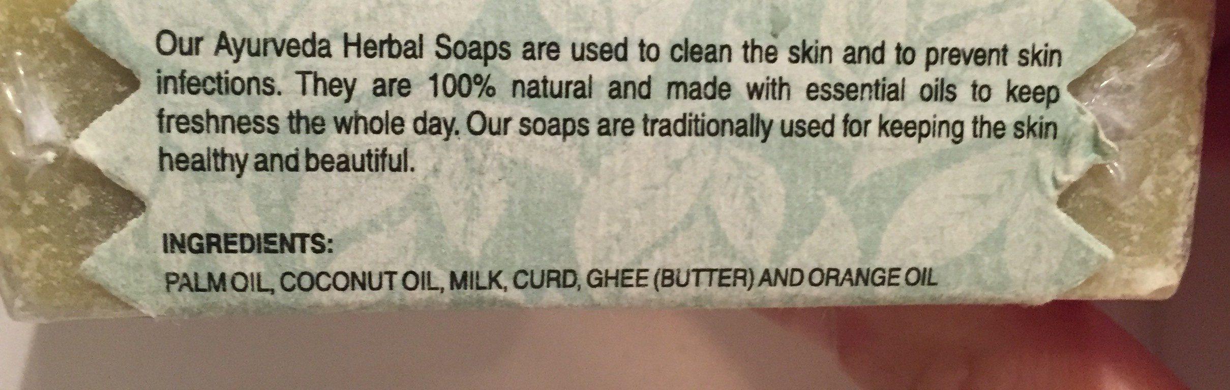 Panchagavya Ayuvedic & Herbal Soap - Ingredients