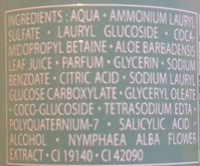 Jardin des Nymphes Shampooing douche - Ingredients