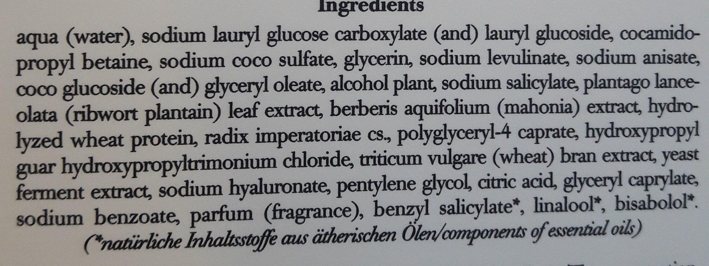 Cleaning gel - Ingredients - fr