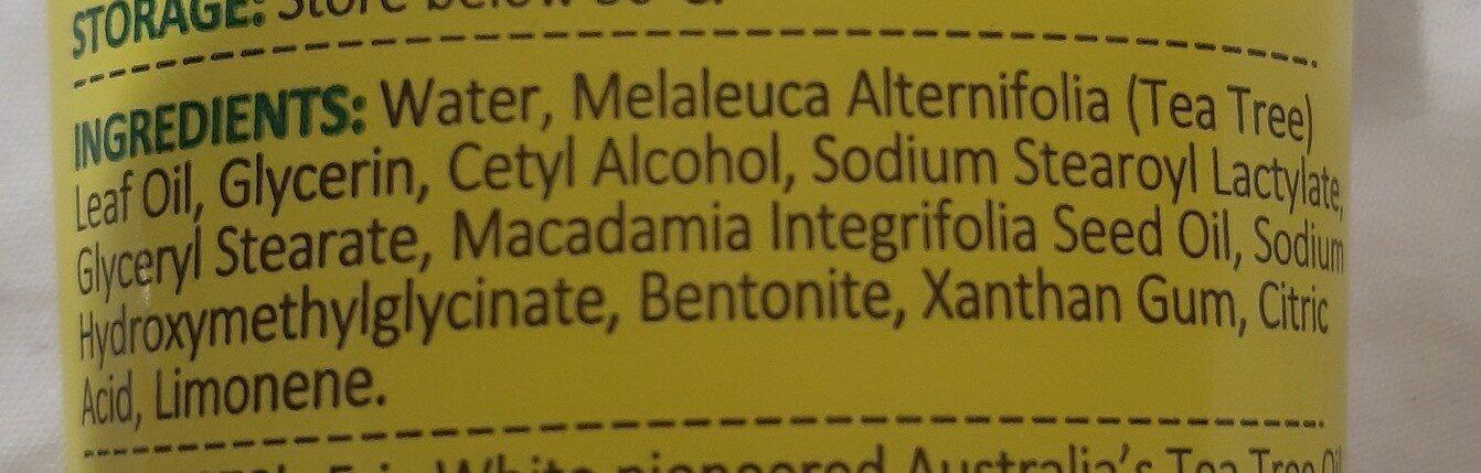 Tea Tree Antiseptic Cream - Ingrédients - en