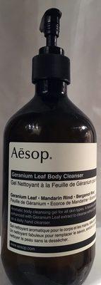 Geranium leaf body cleanser - Product