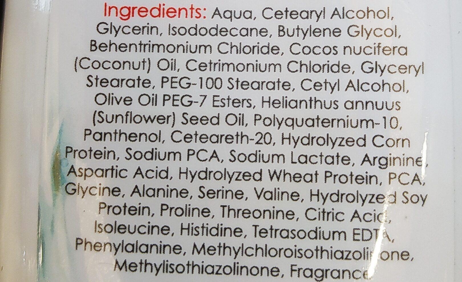 Hair Conditioner - Ingredients - en