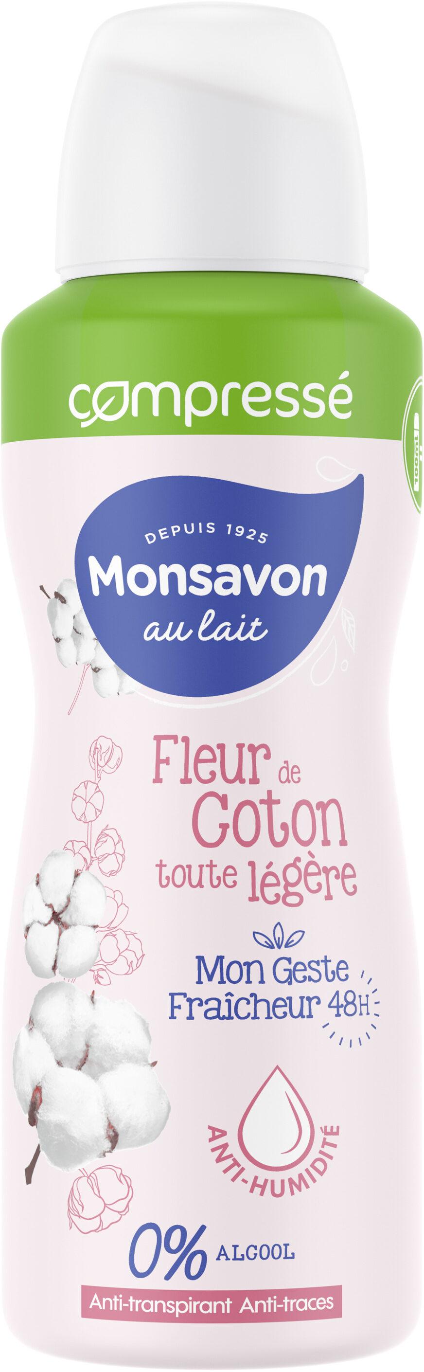 Monsavon Compressé Déodorant Femme Spray Antibactérien Coton - Product - fr