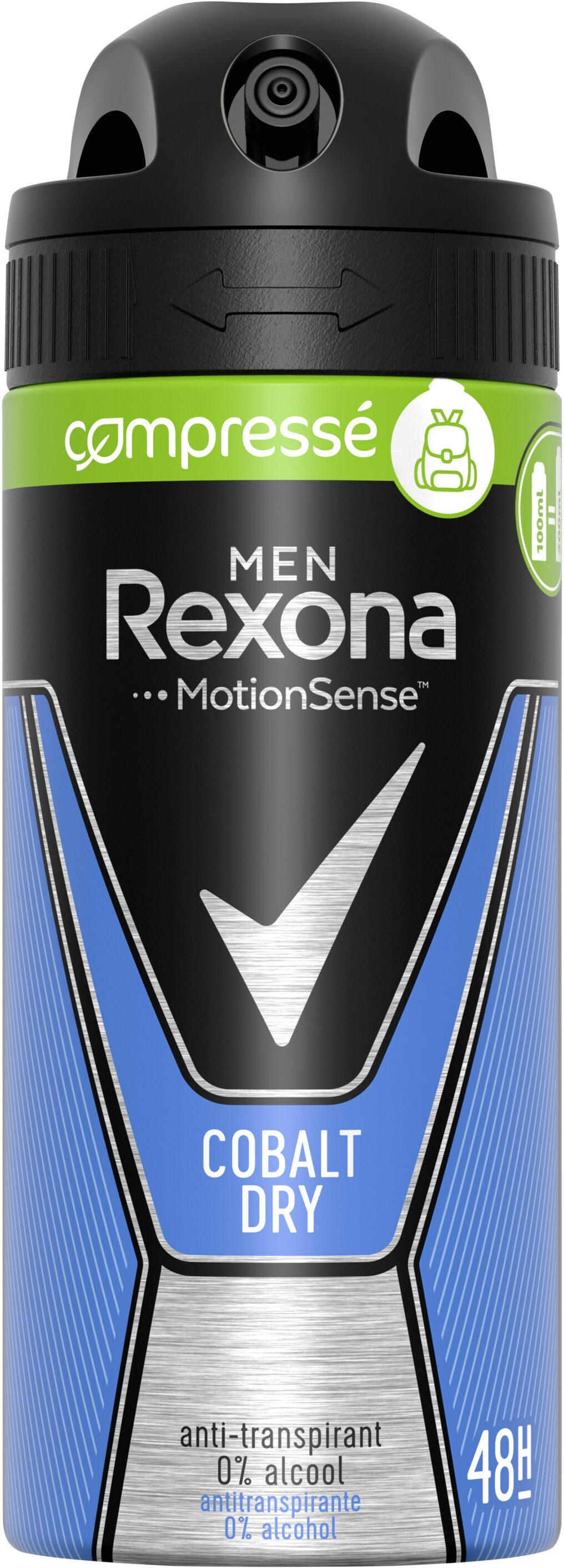 REXONA MEN Déodorant Anti-Transpirant Spray Compressé Cobalt Dry - Product - fr