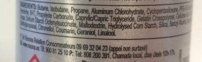 REXONA MEN Déodorant Anti-Transpirant Spray Compressé Cobalt Dry - Ingredients - fr