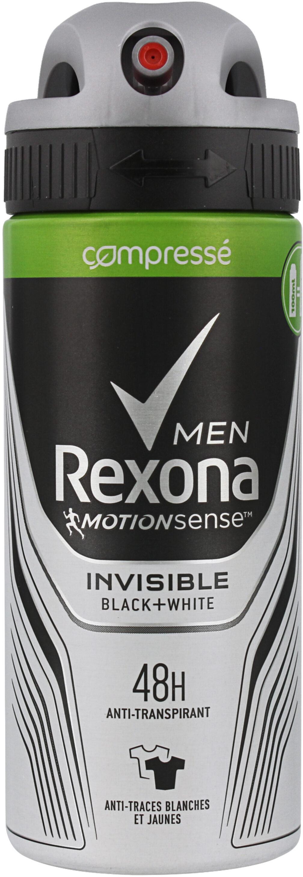 REXONA Men Anti-Transpirant Invisible Black & White - Produit - fr