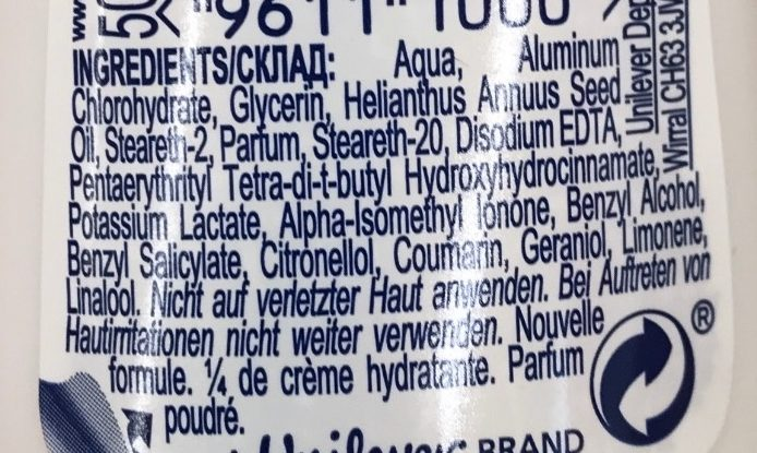 Talc Soft 48H - Ingredients