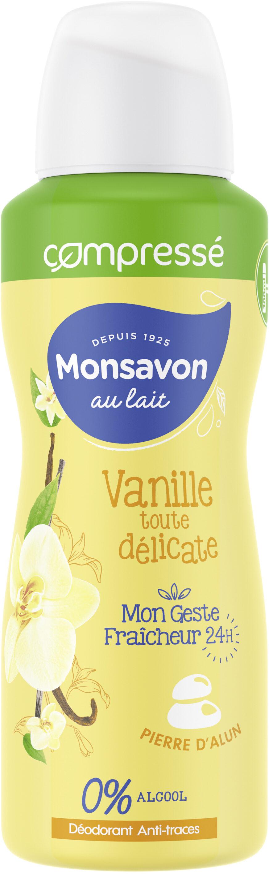 Monsavon Déodorant Femme Spray Antibactérien Lait & Vanille - Product - fr