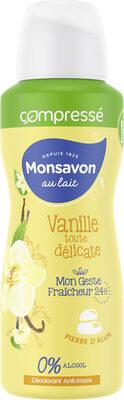 Monsavon Déodorant Femme Spray Compressé Vanille Toute Délicate - Product - fr