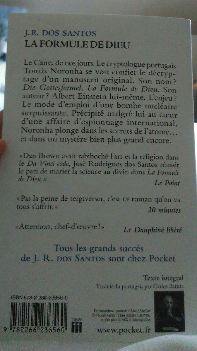 La Formule De Dieu, Dos Santos, Jose Rodriguez - Ingrédients